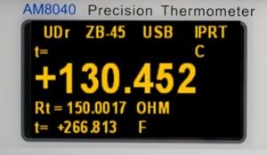 afficheur OLED IPRT SPRT thermomètre précision