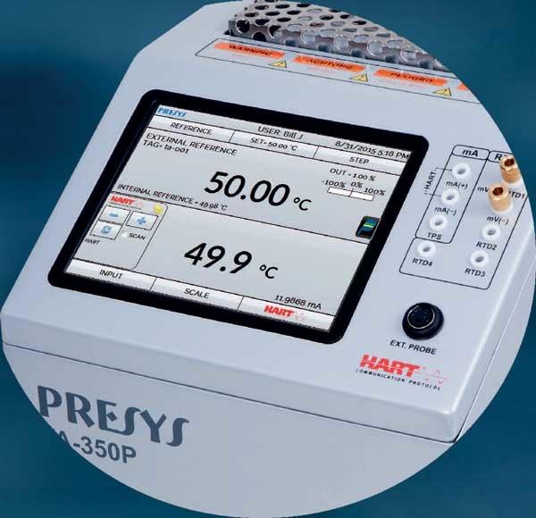 four d'étalonnage de température à écran tactile intuitif
