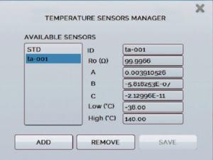ITS90 coefficients CVD sonde PT100 externe