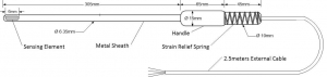 Sondes PRT gradient pour fours capteur bobiné 6 mm