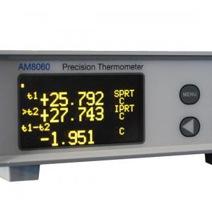 Thermomètre enregistreur à 2 voies ohm/PT25/PT100/SPRT