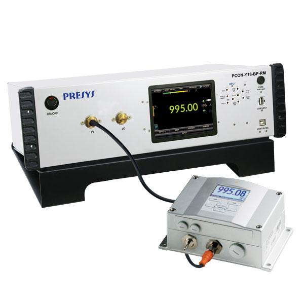 Calibrateur de pression pour baie d'étalonnage