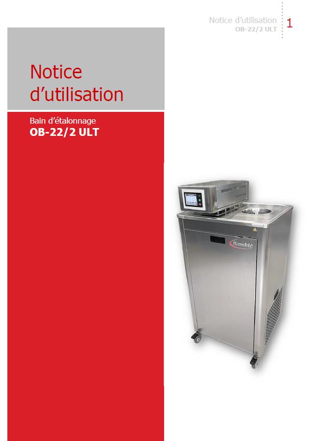 Notice d'utilisation OB-22/2 ULT gamme opératoire -90...+130°C Kambic
